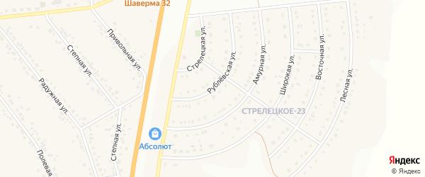 Рублевская улица на карте Стрелецкого села с номерами домов