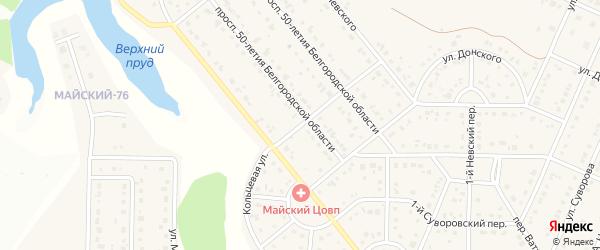 Кольцевая улица на карте Майского поселка с номерами домов