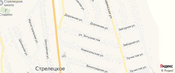Улица Энтузиастов на карте Стрелецкого села с номерами домов