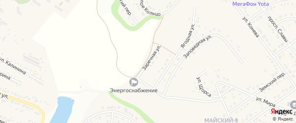 Заречная улица на карте Майского поселка с номерами домов