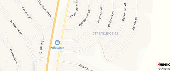 Амурная улица на карте Стрелецкого села с номерами домов