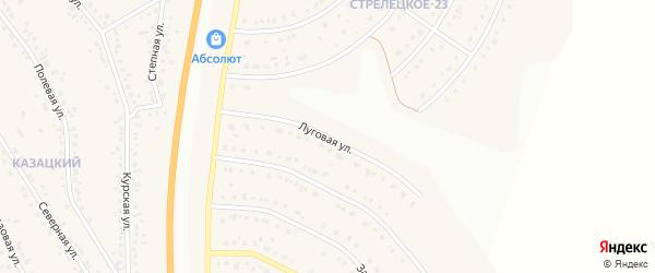 Луговая улица на карте Стрелецкого села с номерами домов