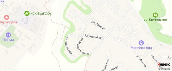 Казацкий переулок на карте Майского поселка с номерами домов
