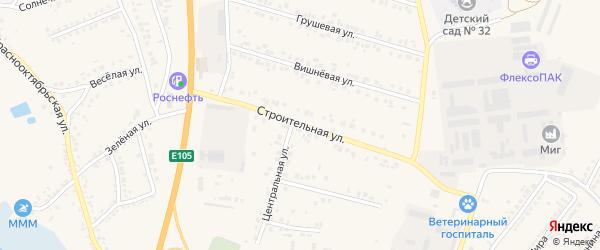 Строительная улица на карте Стрелецкого села с номерами домов