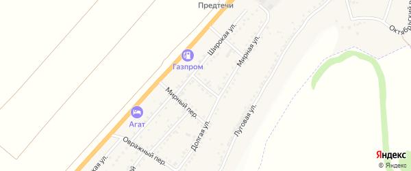 Широкий переулок на карте Майского поселка с номерами домов
