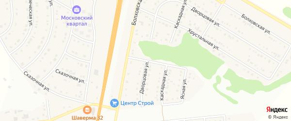 Ясная улица на карте Стрелецкого села с номерами домов