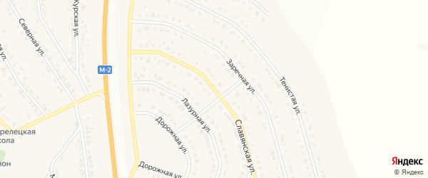 Славянская улица на карте Стрелецкого села с номерами домов