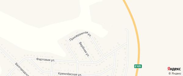 Приовражная улица на карте Стрелецкого села с номерами домов