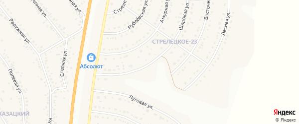 Широкая улица на карте Стрелецкого села с номерами домов