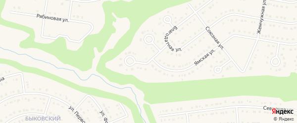 Благодатный переулок на карте Строителя с номерами домов