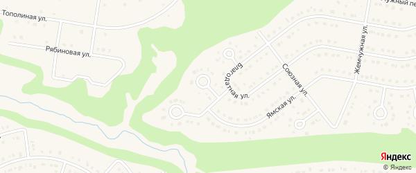 Кленовый переулок на карте Строителя с номерами домов