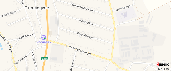 Вишневая улица на карте Стрелецкого села с номерами домов