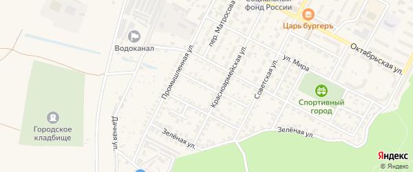 Улица Карла Маркса на карте Строителя с номерами домов