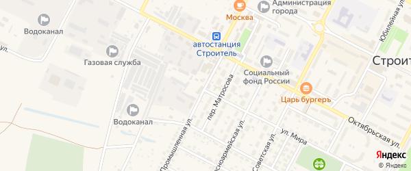 Промышленная улица на карте Строителя с номерами домов