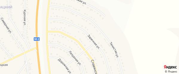 Заречная улица на карте Стрелецкого села с номерами домов