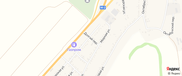 Долгий переулок на карте Майского поселка с номерами домов