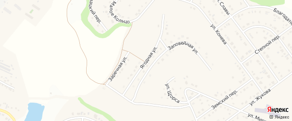 Ягодная улица на карте Майского поселка с номерами домов