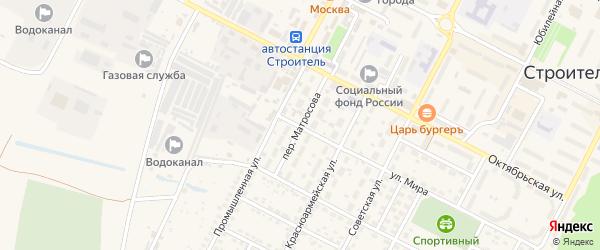 Переулок Матросова на карте Строителя с номерами домов