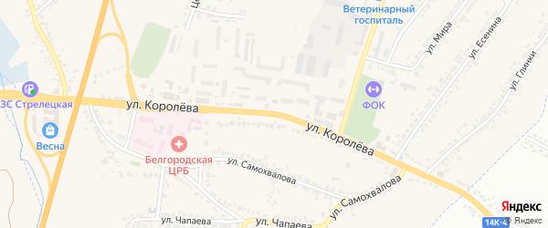 Улица Королева на карте Стрелецкого села с номерами домов