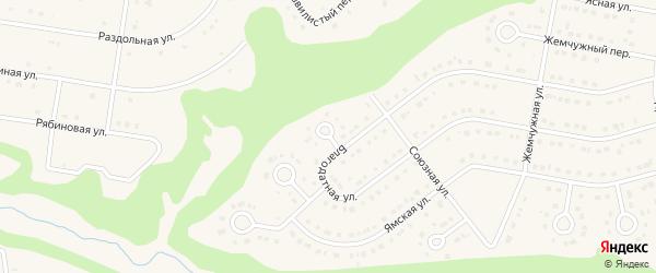 Осенний переулок на карте Строителя с номерами домов