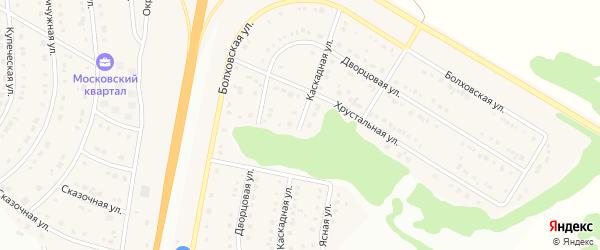 Каскадная улица на карте Стрелецкого села с номерами домов