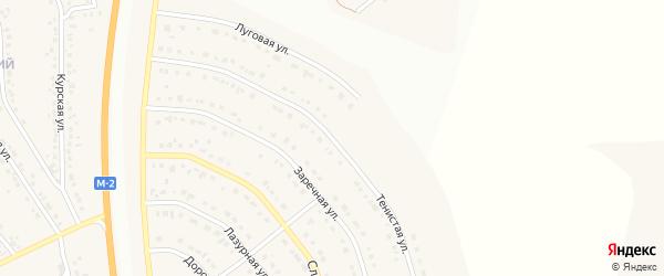 Тенистая улица на карте Стрелецкого села с номерами домов