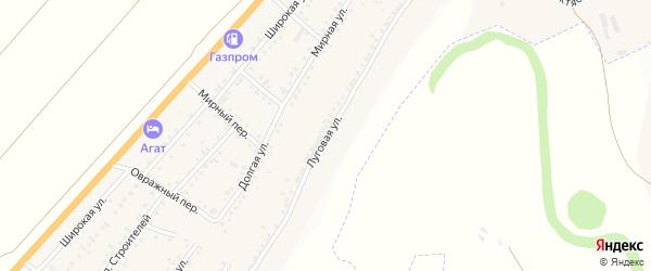 Луговая улица на карте Майского поселка с номерами домов