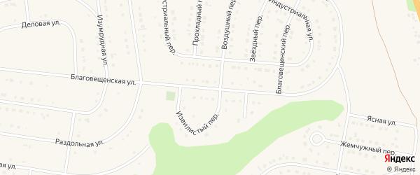 Благовещенская улица на карте Строителя с номерами домов