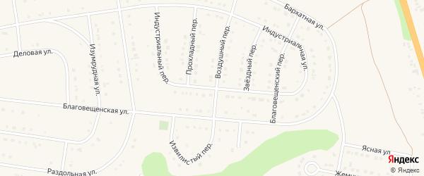 Индустриальная улица на карте Строителя с номерами домов
