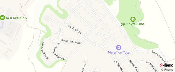 Улица Малое Кольцо на карте Майского поселка с номерами домов