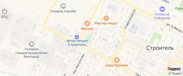 Октябрьский переулок на карте Строителя с номерами домов