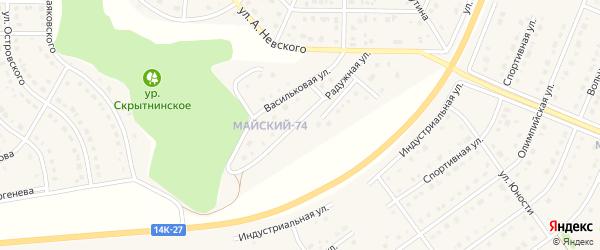 Ражужная улица на карте Майского поселка с номерами домов