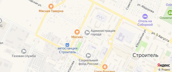 Промышленный переулок на карте Строителя с номерами домов