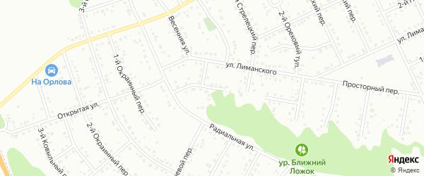 Шагаровский тупик на карте Белгорода с номерами домов