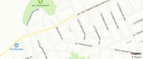 Ореховый 1-й тупик на карте Белгорода с номерами домов