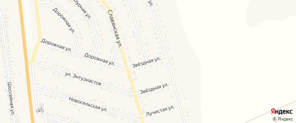Звездная улица на карте Стрелецкого села с номерами домов