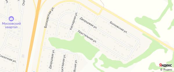Хрустальная улица на карте Стрелецкого села с номерами домов