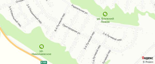 Пригородная улица на карте Белгорода с номерами домов