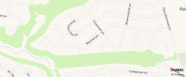 Ямская улица на карте Строителя с номерами домов