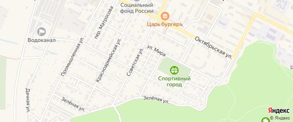 Народная улица на карте Строителя с номерами домов