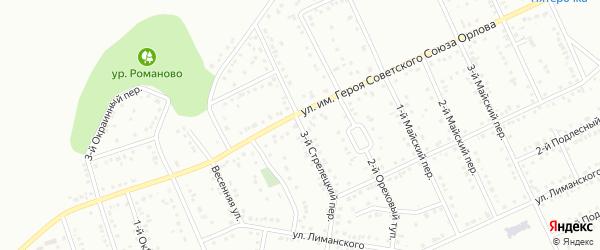 Стрелецкий 3-й переулок на карте Белгорода с номерами домов