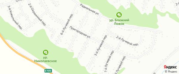 Лучевой 4-й переулок на карте Белгорода с номерами домов