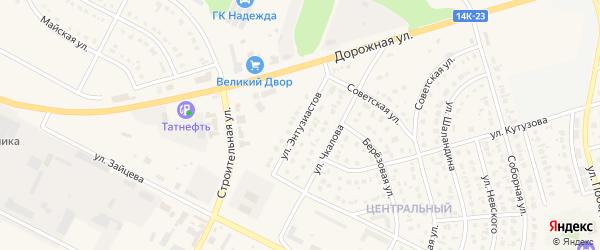 Улица Энтузиастов на карте Строителя с номерами домов