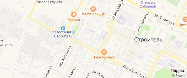Школьный переулок на карте Строителя с номерами домов