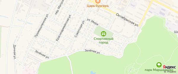 Переулок Циолковского на карте Строителя с номерами домов