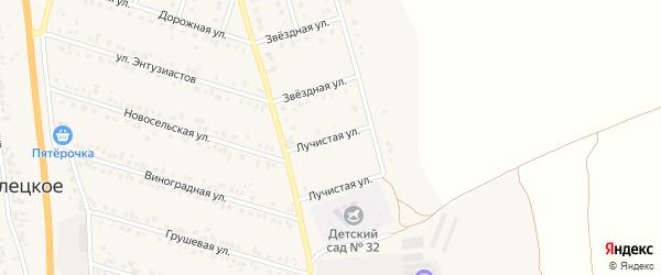 Лучистая улица на карте Стрелецкого села с номерами домов