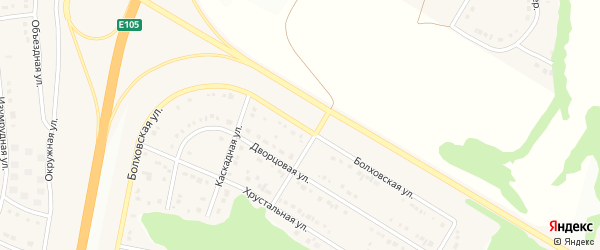 Болховская улица на карте Стрелецкого села с номерами домов