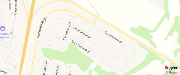 Дворцовая улица на карте Стрелецкого села с номерами домов