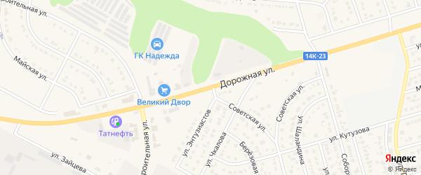 Дорожная улица на карте Строителя с номерами домов