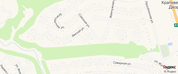 Союзный переулок на карте Строителя с номерами домов